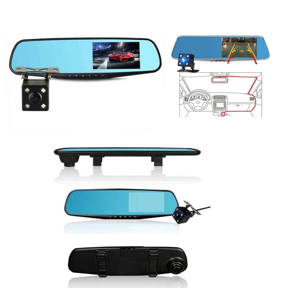 iBello Dashcam & Achteruitrijcamera in spiegel